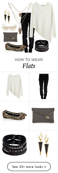 """""""Black and White and Gold"""" by cindiawb on Polyvore featuring Galliano, Henri Bendel, Helmut by Helmut Lang, Replay, Rebecca Minkoff, Versace and Lana"""