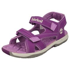 CHILDRENS JUNIOR TIMBERLAND VELCRO STRAP SANDALS IN PURPLE - STYLE - 43967