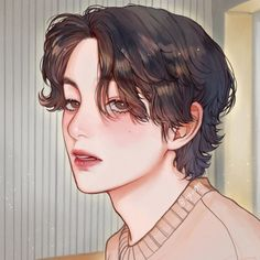 Handsome Anime, Taehyung Fanart, Art Girl, Boy Art, Fan Art, Aesthetic Anime, Aesthetic Art