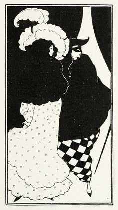 Aubrey Beardsley, illustration for the title page of The Yellow Book (III), 1894.