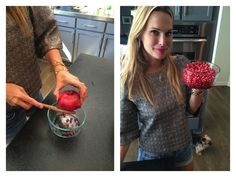 How to cut open a pomegranate | Molly Sims