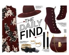 """""""The Daily Find"""" by yurisnazalieth ❤ liked on Polyvore featuring ALDO, Chloé, Aéropostale, Gucci, Janessa Leone and Mimi So"""