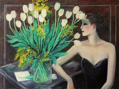 Tulipes et mimosas by Jean-Pierre Cassigneul