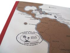 Personalised map travel journal - Damascus £8.50