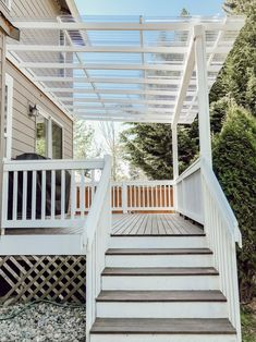 DIY Clear Corrugated Covered Pergola Attached to the House and an Existing Deck – Rain and Pine modern screen wall Patio Pergola, Deck With Pergola, Backyard Patio, Modern Pergola, Outdoor Patios, Outdoor Rooms, Covered Decks, Covered Pergola, Covered Deck Designs