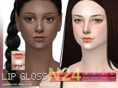 Lana CC Finds - S-Club WM thesims4 Lipstick 24F