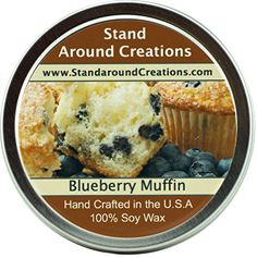 Premium 100 All Natural Soy Wax Aromatherapy Candle Tin Blueberry Muffins Is the aroma of a freshly baked blueberry muffin Top notes of juicy tart blueberries with orange zests middle notes of butter cake and base notes of vanilla and almond Candles By Victoria, Candles With Jewelry Inside, Candle Store, Wax Tarts, Aromatherapy Candles, Orange Zest, Blue Berry Muffins, Freshly Baked, Soy Candles