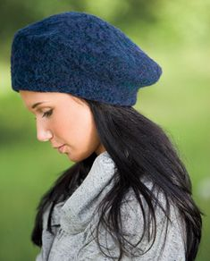 From the pattern description: This jaunty beret knits up quickly for a distinctive gift. Easy machine felting instructions with photo support are included.