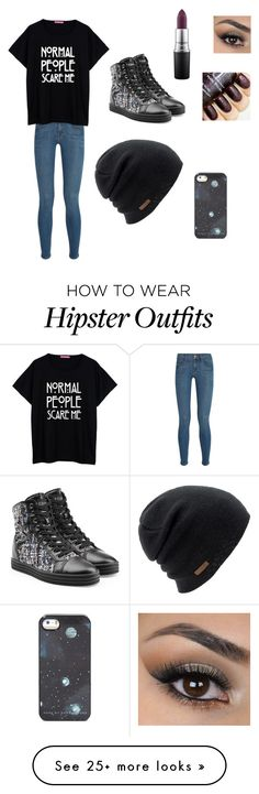 """""""it was in my drafts.."""" by bellaboo109 on Polyvore featuring Frame Denim, Hogan Rebel, Coal, MAC Cosmetics, women's clothing, women's fashion, women, female, woman and misses"""