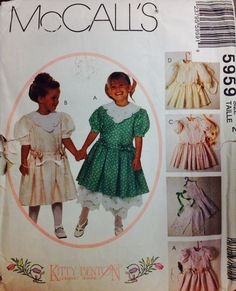 Easter Dress Pattern McCall's 5959 Girls Dress Slip And Pantaloons by Lonestarblondie, $4.00