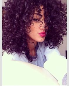 3B shoulder length naturally curly hair
