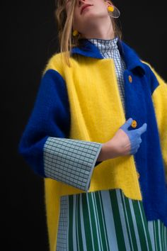 """Chen Zhi celebrates fashion's """"superficial"""" reputation with new collection Knitwear Fashion, Knit Fashion, Look Fashion, Fashion Details, Runway Fashion, High Fashion, Fashion Outfits, Womens Fashion, Fashion Design"""