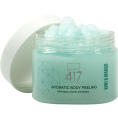 -417 Immediate Miracles Aromatic Body Peeling - Kiwi & Mango (210 ARS) ❤ liked on Polyvore featuring beauty products, bath & body products, body cleansers, fillers, beauty, makeup, blue, cosmetics, magazine and no color