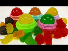 DIY: EOS you can EAT!!! EDIBLE GUMMY BEAR EOS CANDY LOLLY POP TREATS!!! So Easy & Sweet to Eat! - YouTube