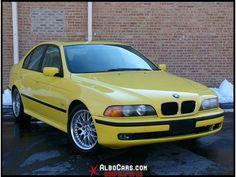 BMW 5 Series E39 (1995–2004) - Yellow Car