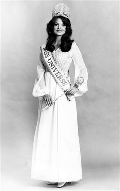 Kerry Anne Wells, Miss Universe 1972, She was the first winner from Australia.