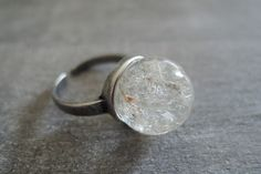 Rings – Dandelion Ring Silver Color real flower Ring – a unique product by MadamebutterflyMeagan on DaWanda
