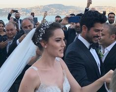Burak and Fahryie's wedding And God Created Woman, Handsome Actors, Beautiful Wife, Turkish Actors, Bridal Wedding Dresses, Bride Hairstyles, Wedding Events, Marie, Dream Wedding