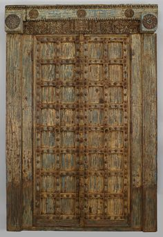 Asian Indian  Southeast Asian architectural element doors painted - DOORS!