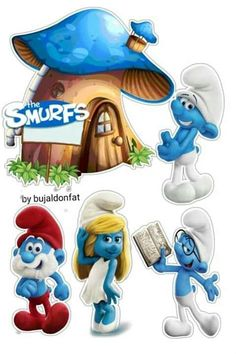 Baby Cartoon Drawing, Smurf Village, Christmas Sheets, Princess Cake Toppers, Bee Pictures, Cartoon House, Classic Cartoon Characters, Fairy Cakes, Disney Fairies