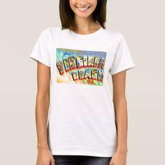 Shop Virginia Beach Virginia VA Vintage Travel Postcard T-Shirt created by AmericanTravelogue. Reagan Bush, Nursing Clothes, My T Shirt, Vintage Travel, Wardrobe Staples, Shirt Style, Shirt Designs, T Shirts For Women, Tees