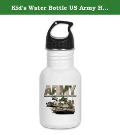 Kid's Water Bottle US Army Hummer Soldiers Tanks. Product Number: 0001-1934482288 Perfect for school lunches or soccer games, our kid's stainless steel water bottle quenches children's thirst for individuality. Personalized for what kids love, it's both eco-friendly and compact. Made of 18/8, food-grade stainless steel. * No lining & no BPA or other toxins * Wide mouth for easy drinking * Durable, BPA-free & phalate-free screw-on top * Holds 0.35L (nearly 12 ounces) * Thin profile to fit...