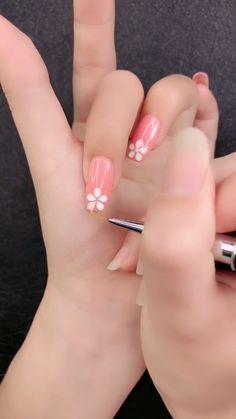 Simple nails art design video Tutorials Compilation Part 201 - sunny Nail Art Designs Videos, Nail Art Videos, Simple Nail Art Designs, Winter Nail Designs, Easy Nail Art, Easy Designs, Simple Art, Winter Nail Art, Autumn Nails