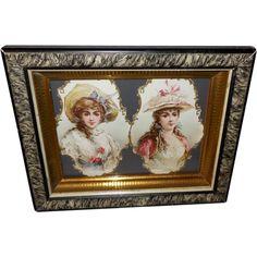 Two Die Cut Ladies in Eastlake Frame