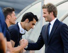 Not a bad trio - Xabi, Arbeloa, Beckham.