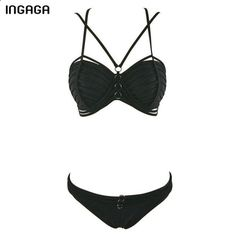 New Sexy Bikinis Set Bandage Swimwear Women Push Up Swimsuit Low Waist biquini Bathing Suits