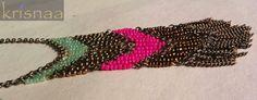 Gitano Necklace KRISNAA BY SHARMILA Priced at 400/- A flowy gypsy feel, down your necklin…