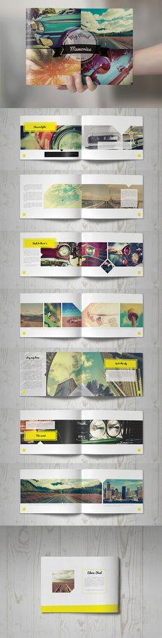Retro Brochure Design by Kahuna Design on Creative Market