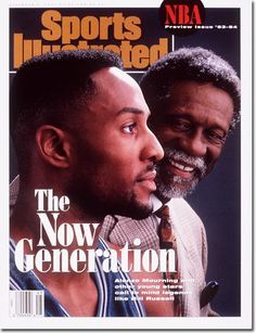 Alonzo Mourning & Bill Russell, SI Cover Basketball Jones, Celtics Basketball, I Love Basketball, Basketball Players, 2013 Nba Finals, Alonzo Mourning, Si Cover, Sports Illustrated Covers, Basketball