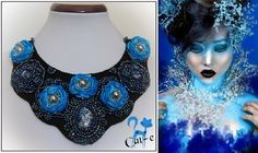 Colier Blue Fantasy, by CatalinaElena, 100 Lei Unique Necklaces, Handmade Necklaces, Handmade Jewelry, Unique Jewelry, Blue Necklace, Fantasy, Trending Outfits, Etsy, Free Shipping