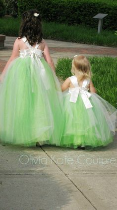 Floor Length Flower Girl Dress by OliviaKateCouture on Etsy