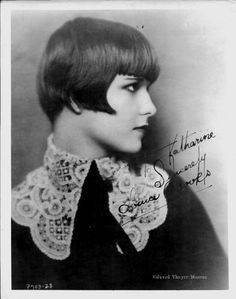 Louise Brooks. SO beautiful.