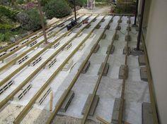 Terrasse en bois sur parpaings de 8m par 4m.