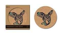 Cork Trivet - Whale by Ernest Swanson, Haida