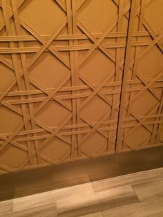 PHOTO 5: Leather wall covering used in this space at crown casino.  A real sense of luxury and high end