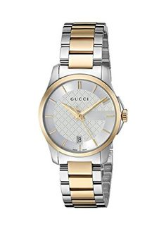 Gucci Swiss Quartz Stainless Steel Dress Two-Tone Women's Watch(Model: Gucci Watches For Men, Toned Women, Watch Companies, Watch Model, Gold Watch, Quartz, Stainless Steel, Accessories