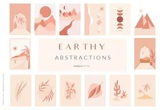 EARTHY Abstractions & Prints by Marsala Digital 2 on @creativemarket