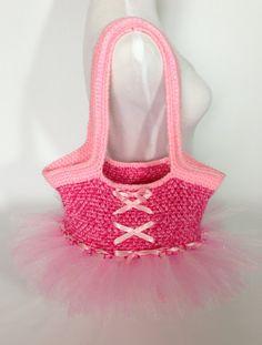 Crochet Ballet Dance Bag/ Lyssa Lou's Custom Craft Etsy