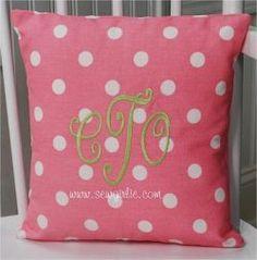 Design Your Own Monogrammed Toss Pillow--10 x 10  $22.00