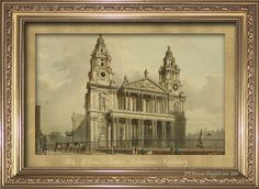 Churches in Regency London. This one is St Paul's Cathedral as shown in 1814.