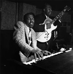Jimmy Smith & Thornel Schwartz, by Francis Wolff, Small's Paradise, Harlem, February 1, 1956.