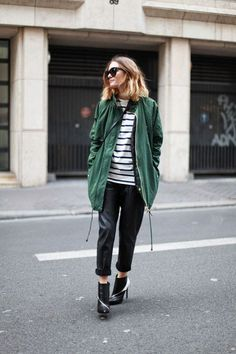 Green Hunter boots for me | The Blonde Salad | Down Jacket ...