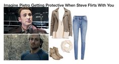 """""""Imagine Pietro Getting Protective When Steve Flirts With You"""" by alyssaclair-winchester ❤ liked on Polyvore"""
