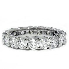 3.00CT Trellis Diamond Eternity Ring 14K White Gold for only $1,899.00 You save: $3,377.70 (64%)