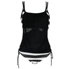 Stylish Spaghetti Strap Hollow Out Women's Two Piece Swimsuit