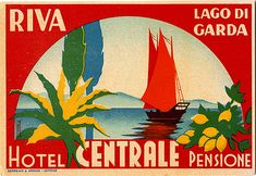 Goregeous Hotel Label illustrated by Romoli   Art of the Luggage Label   Flickr